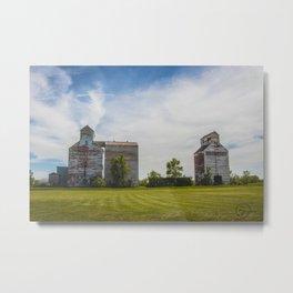 Grain Elevators, Golden Valley, North Dakota 4 Metal Print