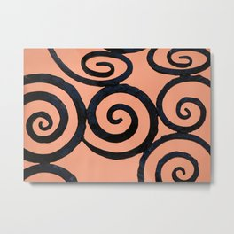 Iron Spirals in Pumpkin Metal Print