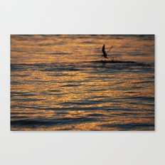 water sunset  Canvas Print