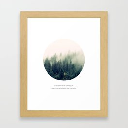 Geometric Forest Quote Framed Art Print