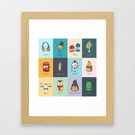 Punny Doodle Collection Framed Art Print