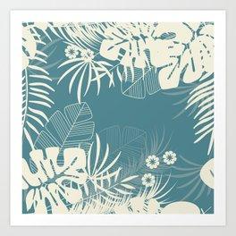 Tropical pattern 047 Art Print
