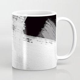 modern painterly brush strokes texture in bw Coffee Mug