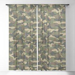 Bush Camouflage Sheer Curtain