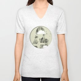 Facet Sky Unisex V-Neck