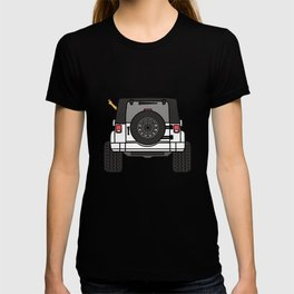 Jeep Wave Back View - White Jeep T-shirt