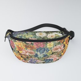 Lush Baroque Floral Fanny Pack