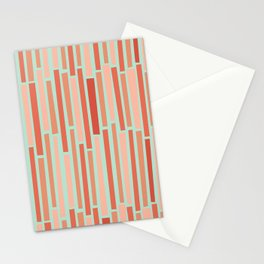 Pink Rows in Mint Stationery Cards