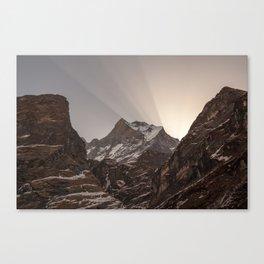 Shards of Light- Nepal Canvas Print