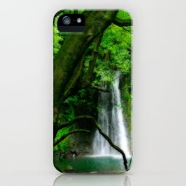 Waterfall in Azores islands iPhone Case