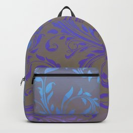 Ombre Damask Purple and Blue Backpack