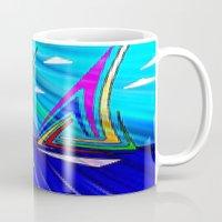 sail Mugs featuring SAIL. by capricorn