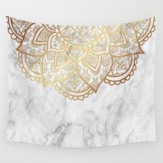 Mandala - Gold & Marble Wall Tapestry