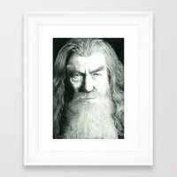 gandalf Framed Art Prints featuring Gandalf by GlennBirdArt