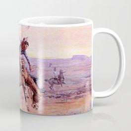 """Bucking Bronco"" by Charles M Russell Coffee Mug"