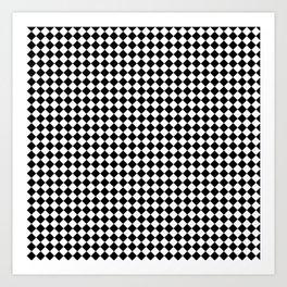 Chessboard 36x36 45 degree rotate Art Print