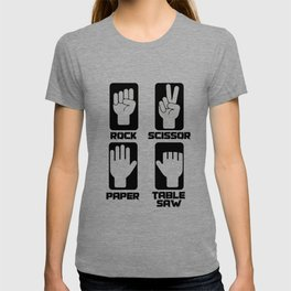 Rock Paper Scissors Saw Craftsman gift T-shirt