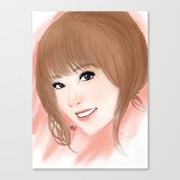 snsd Canvas Prints featuring Mariko by Sheree Tampus