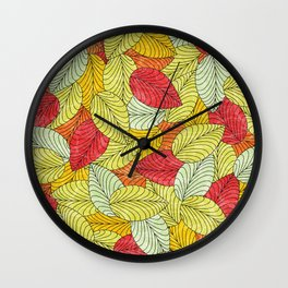 Let the Leaves Fall #10 Wall Clock