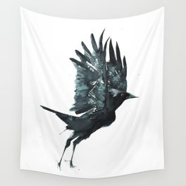 Crow Taking Off Wall Tapestry