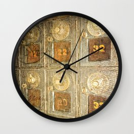 Vintage Post Office Boxes Wall Clock