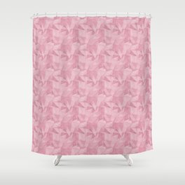 Pantone Sea Pink 15-1912 Abstract Geometrical Triangle Patterns 2 Shower Curtain