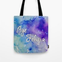 friday Tote Bags featuring Friday by Jamie Marie Lyon