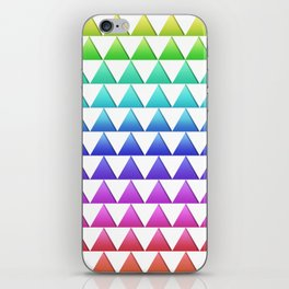 rainbow triangle stacks iPhone Skin