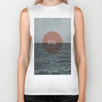 sail Biker Tanks featuring Sail by Carla Talabá