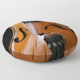 Black Cat And Violin #decor #society6 #buyart Floor Pillow