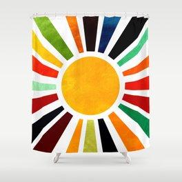 Sun Retro Art Shower Curtain
