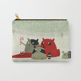 Guilty dudes in the snow Carry-All Pouch