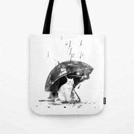 In the rain... Tote Bag
