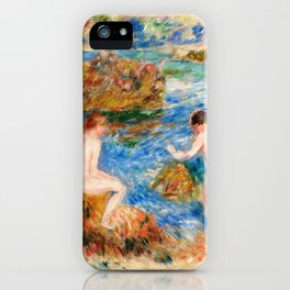 Naked Boys In The Rocks In Guernsey - Digital Remastered Edition iPhone Case