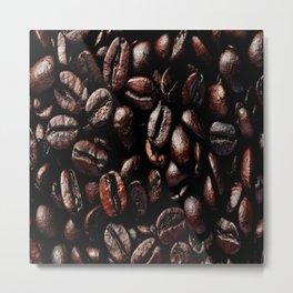 Dark Roasted Coffee Beans Metal Print