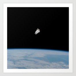 Incredible NASA Astronaut In Space Art Print