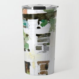 Brownstones and Tree Travel Mug