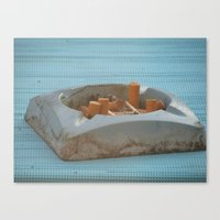cigarettes Canvas Prints featuring Cigarettes  by Rovar