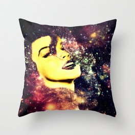 Baby, You're A Star : Magenta Teal Galaxy Throw Pillow