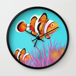 Clown Fish Aquarium Wall Clock