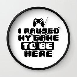 Gamer Game Break Gambling Fun Gift Shirt Wall Clock