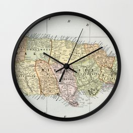 Vintage Map of Jamaica (1901) Wall Clock