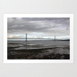 Forth Road Bridge - Fife, Scotland Art Print