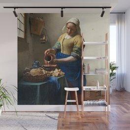 Johannes Vermeer - The Milkmaid Wall Mural