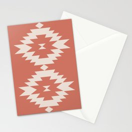 Southwestern Minimalism - Coral Red Stationery Cards