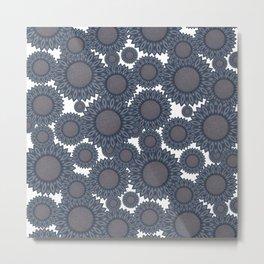 Blue sunflowers Metal Print