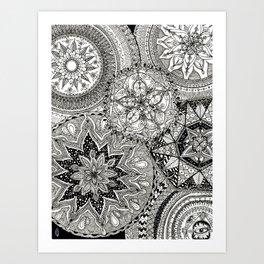 Freehand Full Page Mandalas Art Print