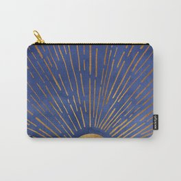 Twilight / Blue and Metallic Gold Palette Carry-All Pouch