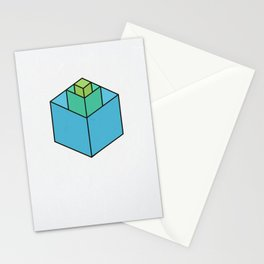 Square in Square Stationery Cards