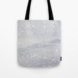 Silver Gray Glitter Sparkle Tote Bag